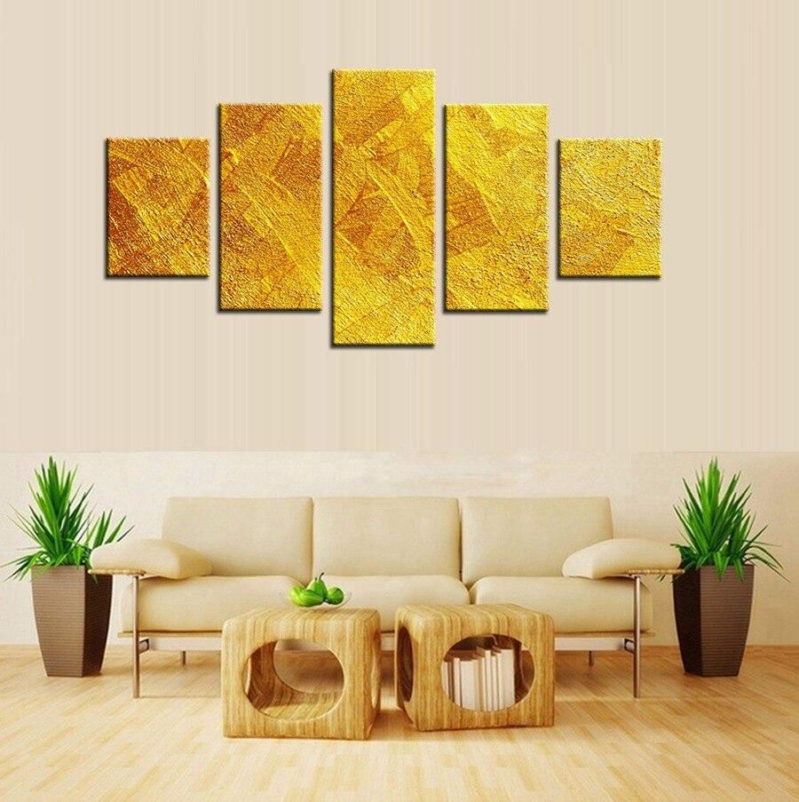 Лучшие Продажи Золотых Книги по искусству истик абстрактная живопись маслом на холсте для украшения дома Книги по искусству стены Стикеры ...