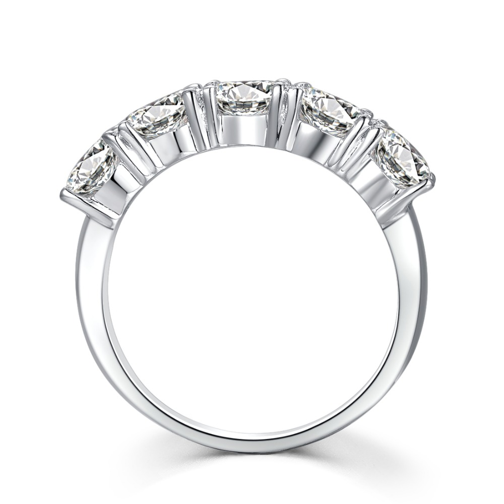 Reliable 2 5Ct PT950 Stamped Sterling Silver in 18K White Gold with Gorgrous Simulate Diamond for