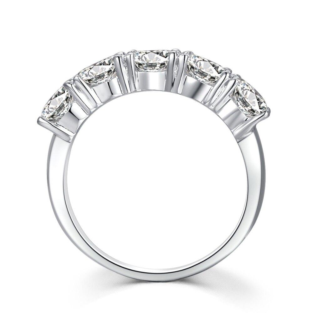 Affidabile 2.5Ct Pt950 interi Sterling Silver in 18 K Oro Bianco con Gorgrous Simulate Diamante per Le Donne Nozze Gioielli Classici-in Anelli da Gioielli e accessori su  Gruppo 1
