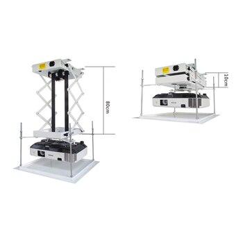 70 см кронштейн для проектора моторизованный Электрический подъемник ножницы проектор потолочное крепление проектор лифт с беспроводным п...