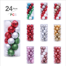 24PCS 4CM Christmas Tree Decoration Balls Party Hanging Ball Family Gifts