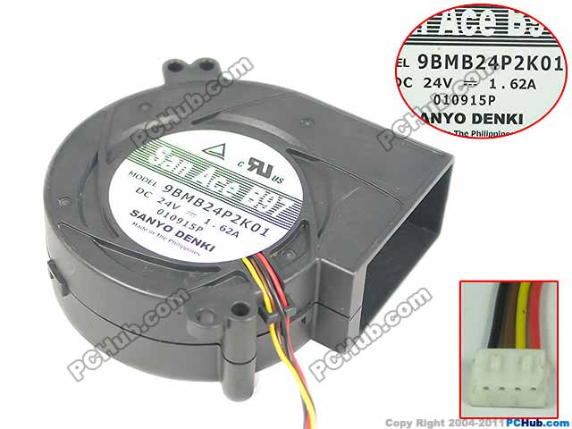 Sanyo 9BMB24P2K01 DC 24V 1.62A 4-wire 97x97x33mm Server Blower Fan free shipping for nmb bg1203 b058 p00 l2 dc 24v 1 30a 3 wire 3 pin connector 50mm 120x120x32mm server blower cooling fan