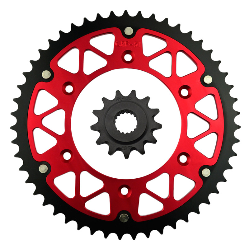 High Performance Motorcycle 13T Front & 45 46 47 48 51 52 T Rear Sprocket Kit For HONDA CRF450R 2002 2015 520 chain