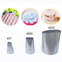 3 Pcs Set Basketweave Cream Metal Tips Stainless Steel Icing Piping Nozzles Cake Cream Decorating Cupcake