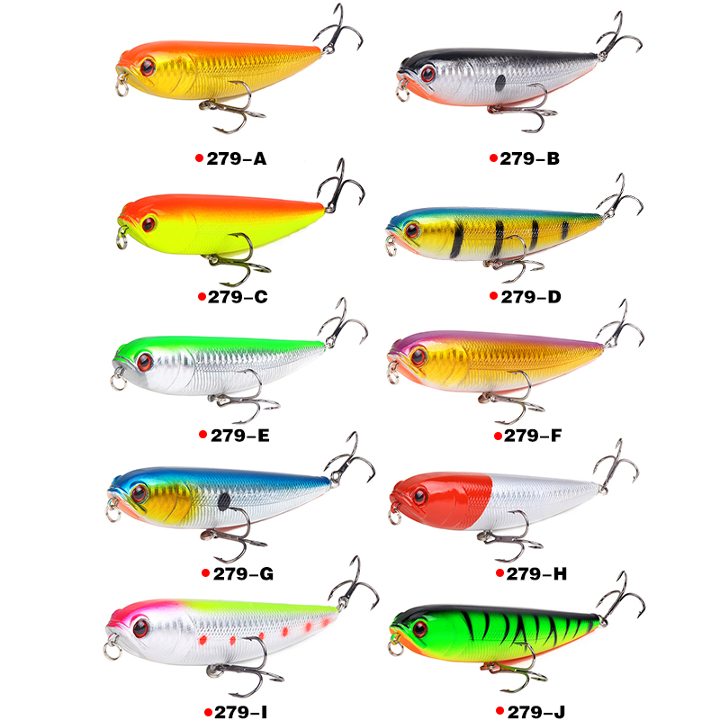 HAODIAOZHE Pencil Fishing Lure Hard Bait Artificial Crankbait With 2 Treble Hooks 11 5cm 20g Sinking Vibration Wobblers YU279 in Fishing Lures from Sports Entertainment