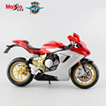 Maisto 1:12 Mini MV Agusta F3 serie oro metal models motorcycle racing car golden edition moto miniature collectible for kids