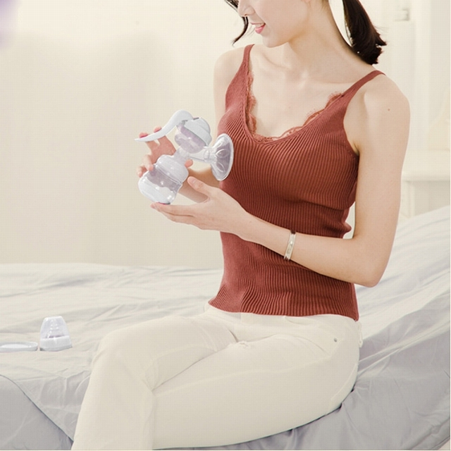 Manual Breast Pump with Baby Nipple Suction