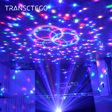Led Disco Light Stage Lamp Party Sound Lights Sound Control 6 Colors Magic Ball Laser Led Christmas Laser Ball Projector Lamps bluetooth crystal magic ball led stage lamp modes disco laser light party lights sound control christmas laser projector