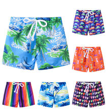 Summer Beach Swimming Shorts For Boys Casual Short Niño Ealstic Swimtrunk Cartoon Print Swim Boys Shorts шорты для мальчи(China)