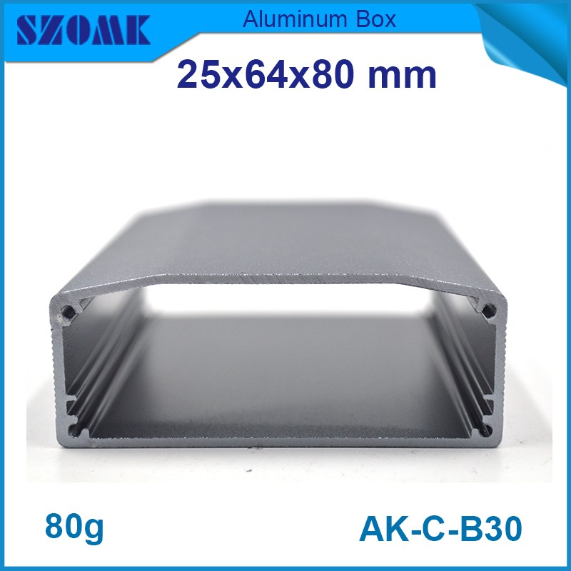 4 pcs/lot aluminium electrical distribution box extruded aluminum housing aluminum box enclosures for electronics 1 piece free shipping small aluminium project box enclosures for electronics case housing 12 2x63mm