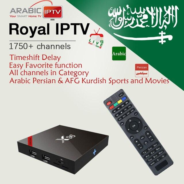 X96W + árabe IPTV real con kurdo persa 1750 Live Amlogic S905W 1G/8G y 2  g/16G WiFi BlueTooth 4 K Android TV Box inteligente