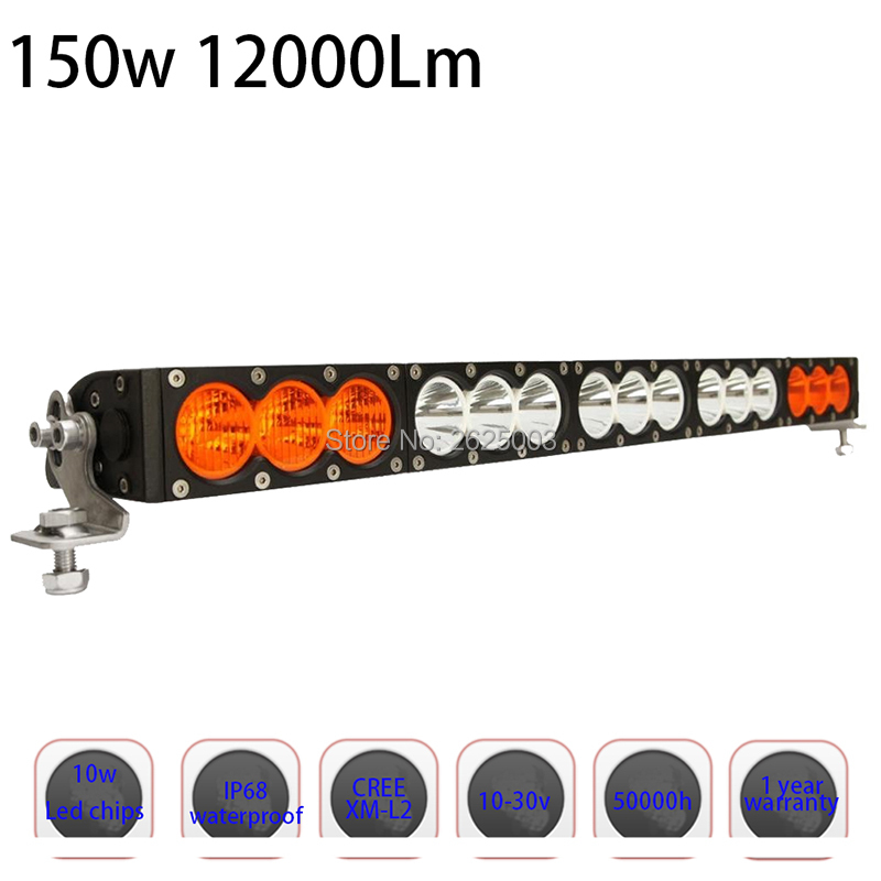 150w 27inch Dual Row White Amber Single Staright Row Led Driving Led Bar with Cree 10W High Light Output for Offroad Truck Auto lole брюки lsw1351 motion staright pants темно серый