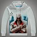 Новый Осень Зима Мужчины Толстовки Бренд Моды Случайные Толстовка Assassins Creed Толстовки Толстовка Assassin Creed Костюмы