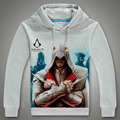 New Outono Inverno Homens Hoodies Da Marca de Moda Casual Moletom Assassins Creed Assassins Creed Camisola Hoodies fatos de Treino