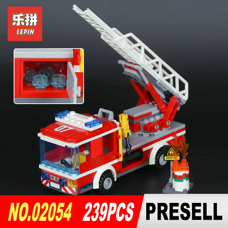 Lepin 02054 239Pcs Genuine City Series The Fire Ladder Truck Set Building Blocks Bricks Educational Toys Model 60107 for boys crusade volume 4 the fire beaks