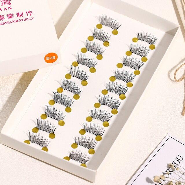 High Quality 10 Pairs/set Pro Beauty Makeup Mini Half Corner Black False Eyelashes Natural Fake Eye Lashes Makeup Tools