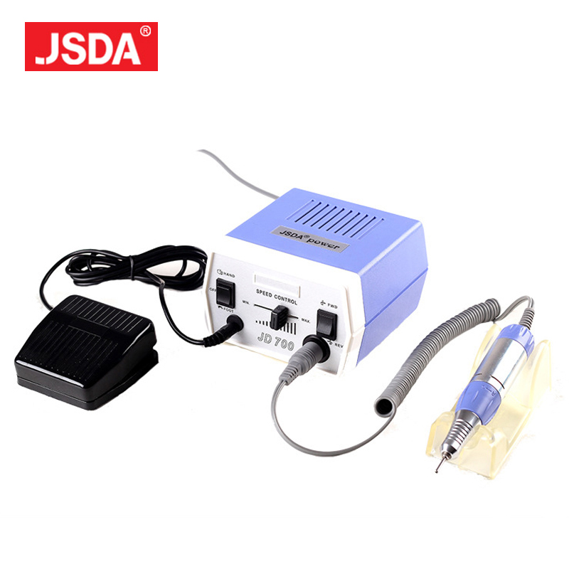 Freeshipping 2017 Direct Selling Real Jsda Jd700 Nail Drill Bits Tools Manicure Pedicure Electric Machine Nails Art Equipment electric nail drill machine manicure pedicure portable nail art tools strong polishing machine cutter drill file bits set nails