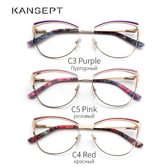 Metal Frame Cat Eye Glasses 4