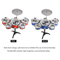 Plug Size Lightweight Mini Children Kids Practicing Drum Instrument Portable ABS Stainless Steel Drum Set With