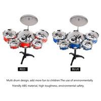 Plug Size Lightweight Mini Children Kids Practicing Drum Instrument Portable ABS Stainless Steel Drum Set With