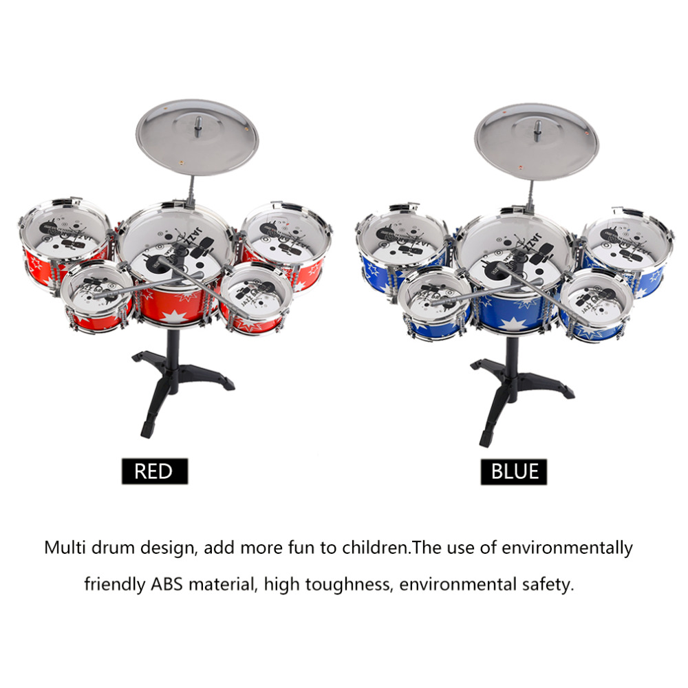 Plug Size Lightweight Mini Children Kids Practicing Drum Instrument Portable ABS Stainless Steel Drum Set With Chair from Ru ...