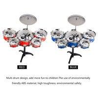 Wtyczka Rozmiar Lekki Mini Dzieci Dzieci Praktykujących Bęben Instrument Przenośny ABS Ze Stali Nierdzewnej Zestaw Perkusyjny Z Krzesłem z Ru