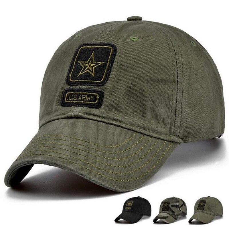 Prix pour 100% Coton Hommes Pentagramme Bouchon Tactique Casquettes Camouflage Chapeau Camo Baseball Chapeaux Réglable
