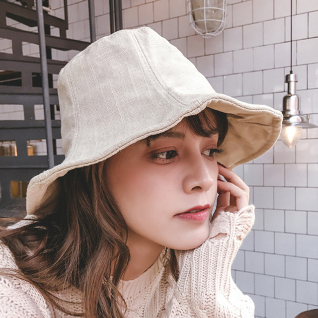 Unisex Linen Bucket Hats 2018 New Fashion Summer Fishing Outdoor Caps for  Men and Women Casual 796903f9013