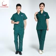 Emergency center work clothes white coat short sleeve nurse wear split suit men and women doctors wear long sleeves