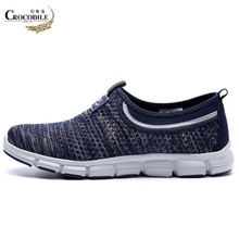 Crocodile Original Men Sneaker 2018Summer Lofter Men Mesh Fabric Flat Sport Shoes Driving Training Light for Men's Running Shoes