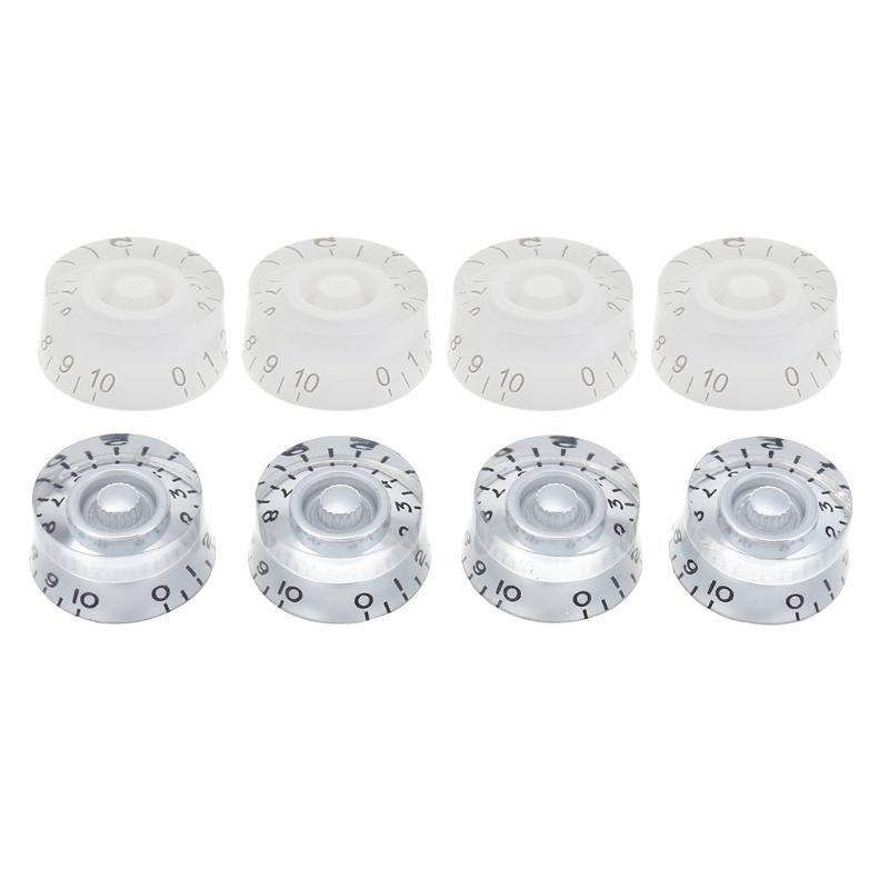 Hot Sale 4pcs Acrylic Electric Guitar Bass Potentiometer Knob Straight Caps for Electric Guitar Musical Instrument Accessories