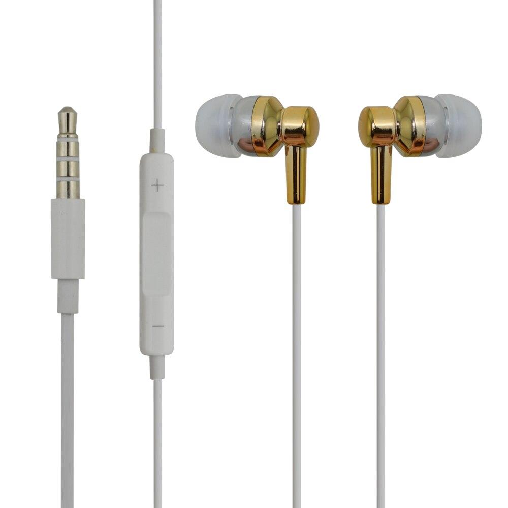 Univerzális vezetékes arany fényes fülhallgató fülhallgató - Hordozható audió és videó