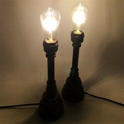 Osobowość żelaza wodociąg dekoracji lampka na biurko E27 kreatywny rocznika wiatr przemysłowe ciepłe styl lampy biurko do badania sypialnia Lampy na biurko Lampy i oświetlenie -