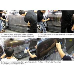Image 5 - 50*200CM przezroczysty samochód naklejki folia ochronna z 3 warstwami PPF lakier samochodowy folia ochronna samochód folia ochronna Wrap akcesoria