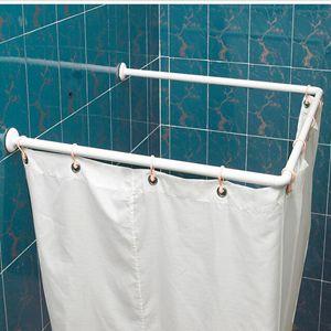 l corner u shaped curved shower curtain rod shower curtain rod aluminum rod steel white specials. Black Bedroom Furniture Sets. Home Design Ideas