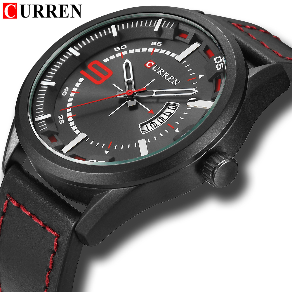 Hot Fashion Military Quartz Mens Watches 2018 Luxury Brand CURREN Leather Waterproof Male Wristwatches Relogio Masculino new arrival curren brand men s quartz watches hot sale casual sports mens wristwatches fashion silicone straps male clocks hours