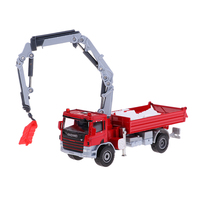 Alloy 1:50 Scale Model Car Crane Truck Diecast Construction Engineering Car Transport Vehicle Kids Toy Home Decor Collectables