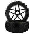4pcs Rc Wheels 1/8 Off Road Car Buggy Rim and Rubber Black Wheel Rims HUB HEX 17mm Rc Car Parts