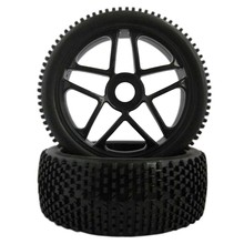 4pcs Rc Wheels 1/8 Off Road Car Buggy Rim and Rubber Black Wheel Rims HUB HEX 17mm Rc Car Parts 4pcs 17mm hub wheel rim