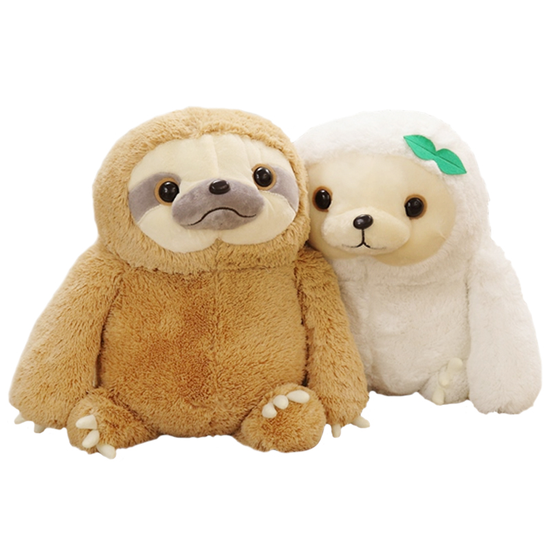 1pcs 40cm 2 colors New Crazy Animal City Cute Sloth The Anime Movie Zootopia Sloth Flash Stuffed Animals Cute Doll For Girl 1 pcs cute anime school stuffed