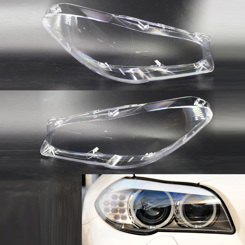 1 Pair Car Front Right + Left Transparent Housing Headlight Clear Lens Cover Headlamp Shell For BMW BMW F10 F18 2010-2015 1 pair left
