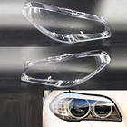 1 Pair Car Front Right + Left Transparent Housing Headlight Clear Lens Cover Headlamp Shell For BMW BMW F10 F18 2010-2015