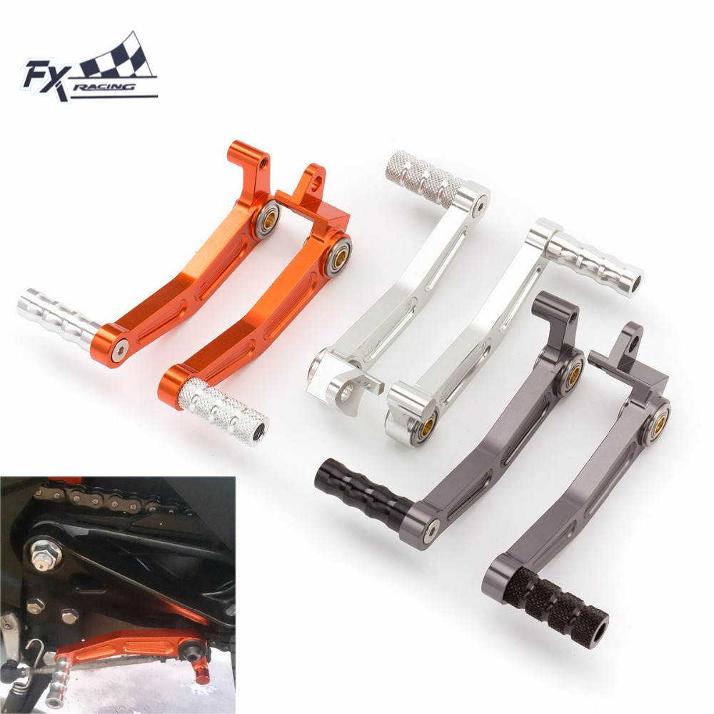 High Quality CNC T6061 Aluminum Motorcycles Foot Pedal Brake + Gear Shifter Lever For KTM DUKE 125 200 390 RC125 RC200 RC390