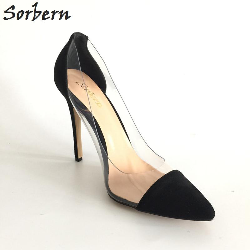 Sorbern Plus Size Women Pumps Zapatos Mujer Ladies Party Shoes Real - Damesko - Bilde 5