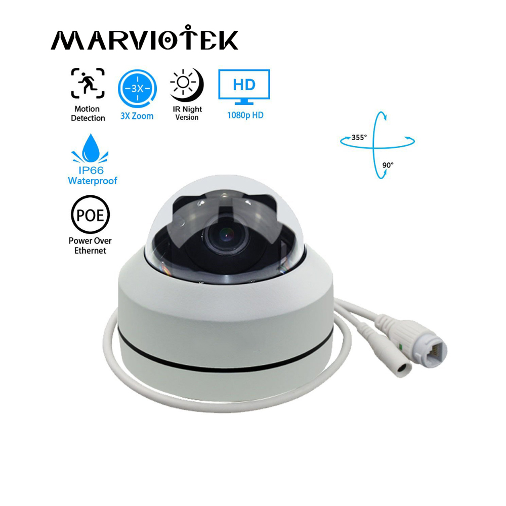 Outdoor Dome Camera PTZ Speed Dome Camera IP 2MP HD Onvif 3Xoptical zoom P2P 30m IR Night Vision Waterproof PTZ IP Camera H.264 sricam hd p2p h 264 1 0mp ptz ip wireless wifi outdoor camera 720p night vision 15m ir cut cctv camera waterproof dome camera