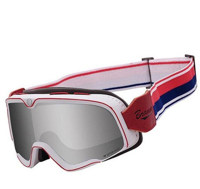 BYE Retro Motorcycle Glasses Steampunk Copper Flying Goggles Vintage Biker Eyewear Windproof