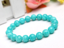 Natural Mozambique Green Amazonite Gemstone Women Men Stretch 9mm Healing Stone Round Beads Bracelet Fashion Jewelry AAAA