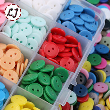 Free Ship 100pcs/lot Resin Button Round 2 Holes 12mm Dia sew on button accessories candy color handmade children button DIY