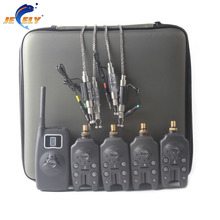 (SHIPPING FROM RU) New Arrival JY-58 Wireless Carp Fishing Bite Alarm Set With Illuminated Swingers and Sinkers