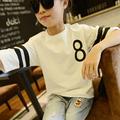 Girls Printed T-shirts for Children Kids Girls T-shirt Teenage Girls Summer Clothes 2016 Girls Casual Clothes White Black Red